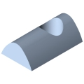 0.0.026.18 T-Slot Nut 8 St M8, bright zinc-plated