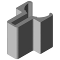 0.0.294.34 Shaft-Clamp Profile 8 D14, natural