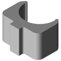 0.0.350.02 Shaft-Clamp Profile 8 D25, natural