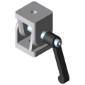 0.0.373.93 Hinge 8 40x40, heavy-duty with Clamp Lever