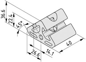 0.0.388.02 Angle Element 8 T2-40