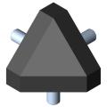 0.0.388.68 Fastening Set 8 40x40-45°, black