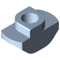 0.0.391.20 T-Slot Nut 5 Zn M3, bright zinc-plated