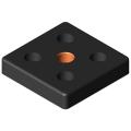 0.0.406.23 Base Plate Transport Plate 8 80x80, M16, black