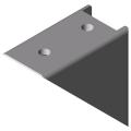 0.0.411.23 Angle Bracket 8 80x80 Zn, white aluminium, similar to RAL 9006