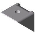 0.0.411.24 Angle Bracket 8 40x40 Zn, white aluminium, similar to RAL 9006