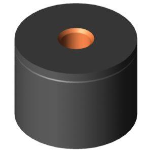 0.0.416.35 Impact Buffer M6 D20x15, black
