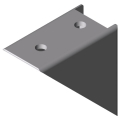 0.0.419.65 Angle Bracket 6 60x60 Zn, white aluminium, similar to RAL 9006
