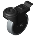 0.0.420.17 Castor D75 swivel with double-brake antistatic