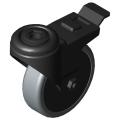 0.0.420.17 Castor D75 swivel with double-brake antistatic