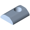 0.0.420.83 T-Slot Nut 8 St M8, heavy-duty, bright zinc-plated