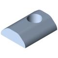 0.0.420.83 T-Slot Nut 8 St M8, heavy-duty, bright zinc-plated