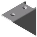 0.0.425.06 Angle Bracket 5 40x40 Zn, white aluminium, similar to RAL 9006