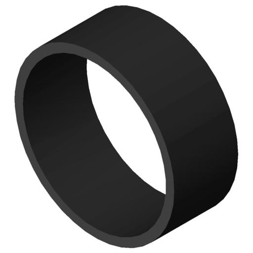 0.0.427.63 Tube D50 KU, black