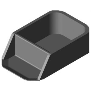 0.0.432.75 Parts Container 160x80, black