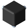 0.0.437.96 Fastening Set 5 20x20x20, black