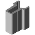 0.0.442.03 Shaft-Clamp Profile 8 D10, natural