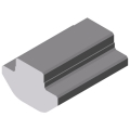 0.0.444.32 Groove Profile 8 St, bright zinc-plated