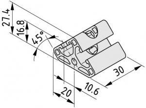 0.0.459.72 Angle Element 6 T2-30