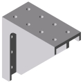 0.0.475.21 Angle Bracket 8 160x160 St M8, white aluminium, similar to RAL 9006