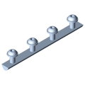 0.0.479.96 Fastening Set for Angle Bracket 160x160 M8