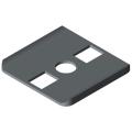 0.0.480.39 Radius Seal 8 40x40, grey similar to RAL 7042