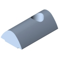 0.0.480.50 T-Slot Nut V 8 St M6, bright zinc-plated