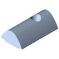 0.0.480.54 T-Slot Nut V 8 St M5, bright zinc-plated