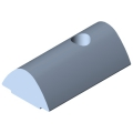 0.0.480.57 T-Slot Nut V 8 St M4, bright zinc-plated