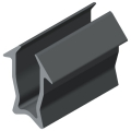 0.0.611.40 Double-Lip Seal 8 4-6mm, grey similar to RAL 7042