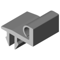 0.0.616.57 Door Stop Seal 8 30, grey similar to RAL 7042