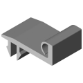 0.0.617.31 Door Stop Seal 8 40, grey similar to RAL 7042