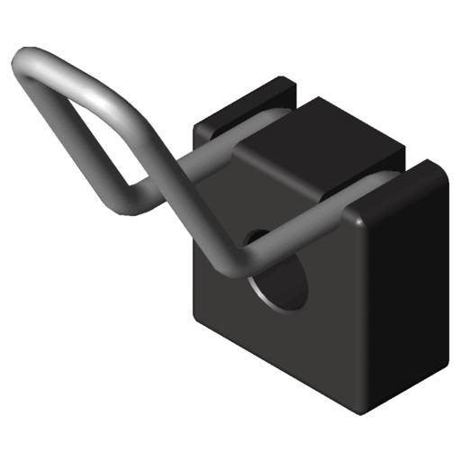 0.0.624.28 Hook 8 40x40, black