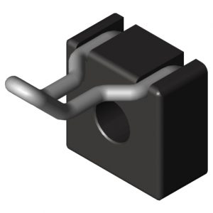 0.0.624.30 Hook 8 40x20, black
