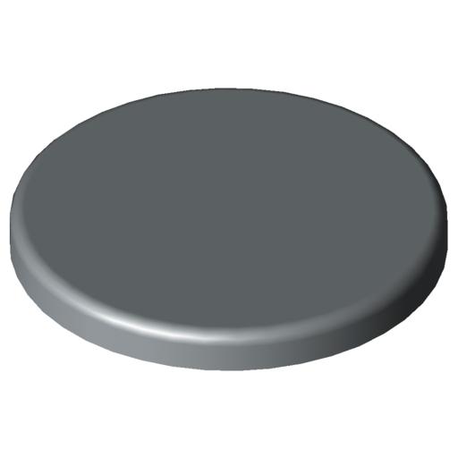 0.0.629.78 Cap, Tube D30, grey