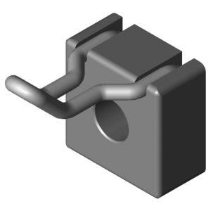 0.0.634.74 Hook 8 40x20, grey