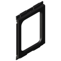 0.0.642.93 Cable Entry Protector Wall 120-80, black