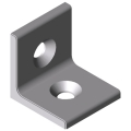 0.0.665.53 Angle Bracket 8 40 right-angled, white aluminium, similar to RAL 9006