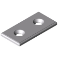 0.0.666.35 Bracket 8 40 flat, white aluminium, similar to RAL 9006