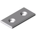 0.0.666.35 Bracket 8 40 flat, white aluminium, similar to RAL 9006
