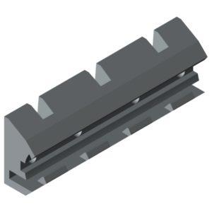 0.0.671.52 Bearing Block D30 100 D5-33, grey