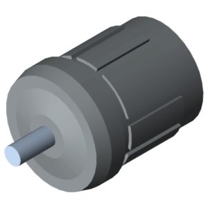 0.0.673.67 Conveyor Roller TR30, Bearing Flange D27 D5, grey