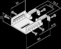 0.0.674.02 Roller Conveyor 60 Fastening Bracket D30