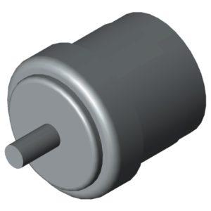 0.0.674.94 Conveyor Roller TR30, Bearing Flange D26.4 D5, grey