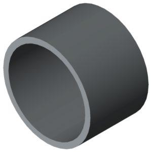0.0.675.01 Tube D30x1.8 KU, grey