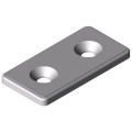 0.0.677.74 Bracket 6 30 flat, white aluminium, similar to RAL 9006