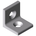 0.0.677.75 Angle Bracket 6 30 right-angled, white aluminium, similar to RAL 9006