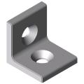 0.0.677.75 Angle Bracket 6 30 right-angled, white aluminium, similar to RAL 9006