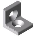0.0.677.77 Angle Bracket 5 20 right-angled, white aluminium, similar to RAL 9006