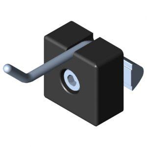 0.0.683.53 Single Hook 8 40x20, black